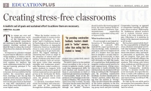 Stress free classrooms