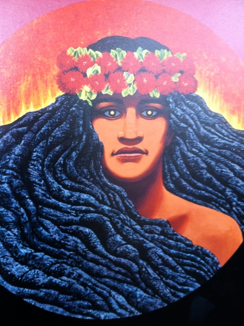 Hawaiian fire goddess Pele´