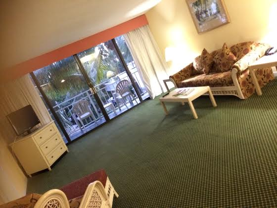 Our suite at the Hampton Inn & Suites Islamorada.