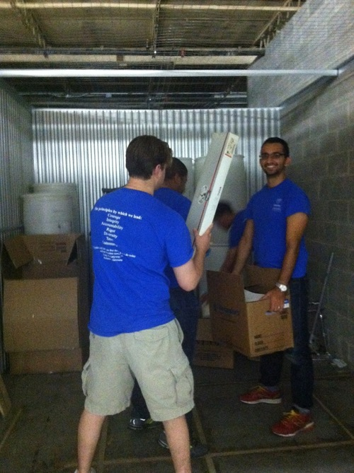 My group volunteered with Embraced, a nonprofit that collects and redistributes gently-used orthopedic medical equipment.