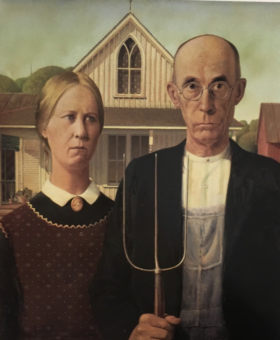 Grant Wood's American Gothic at the Chicago Art Institute